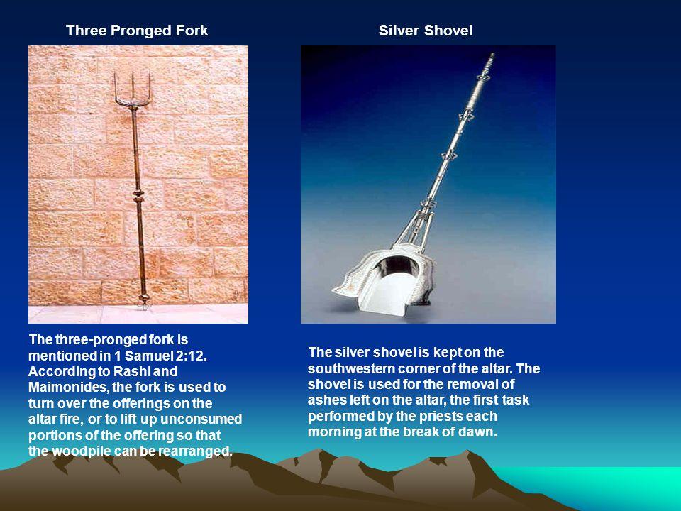 Three Pronged Fork Silver Shovel