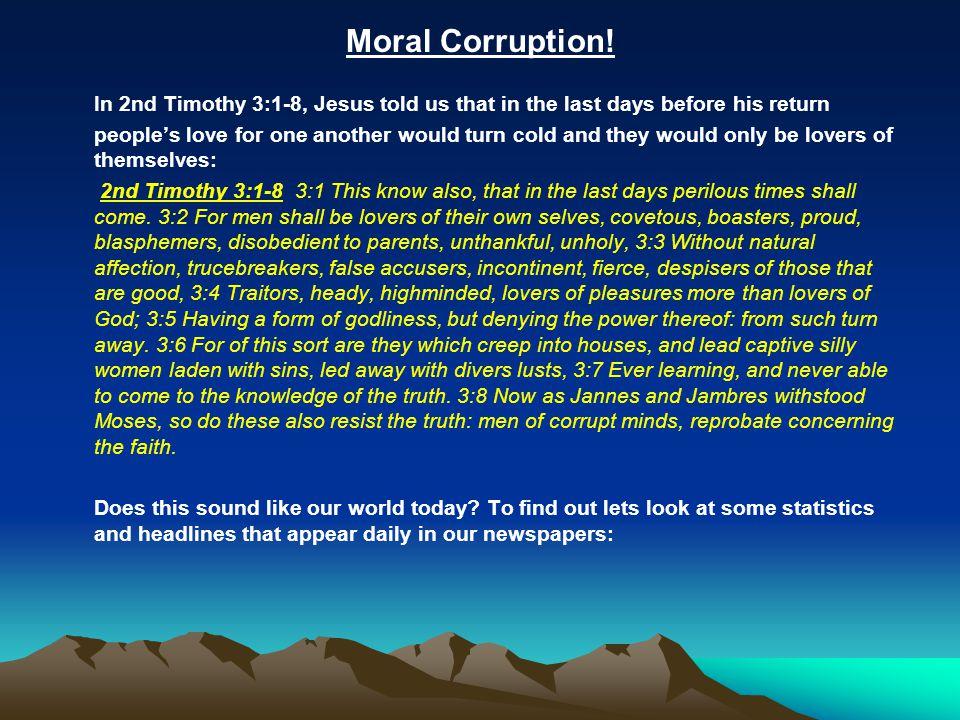 Moral Corruption!