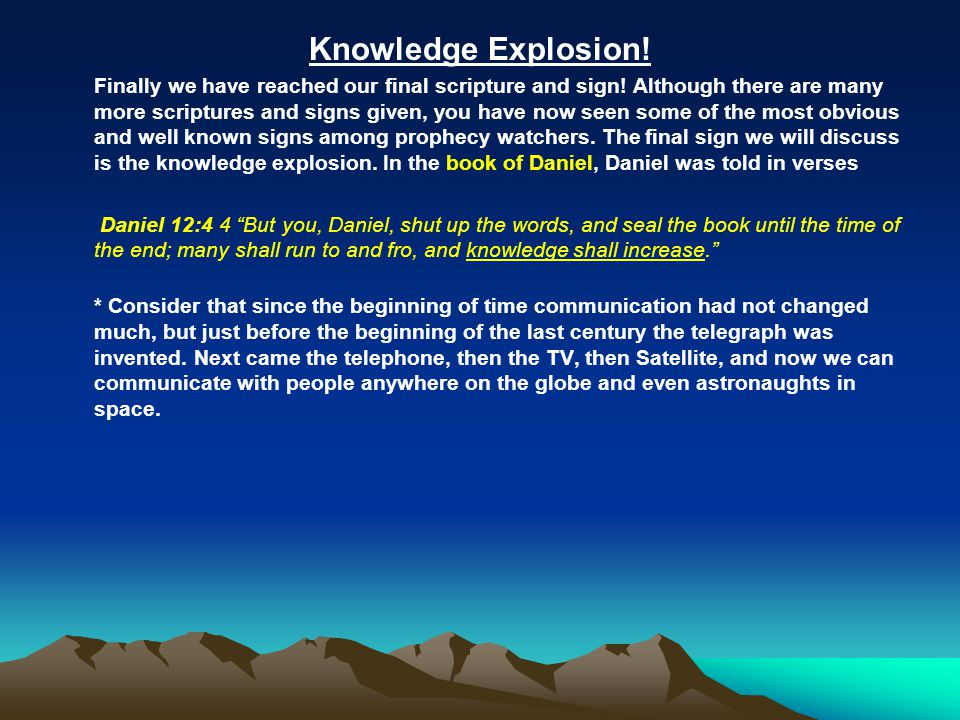 Knowledge Explosion!