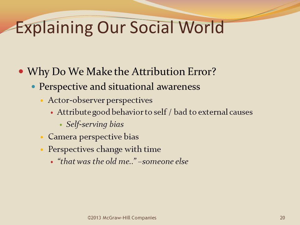 Explaining Our Social World