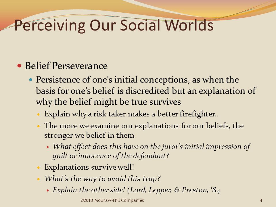 Perceiving Our Social Worlds