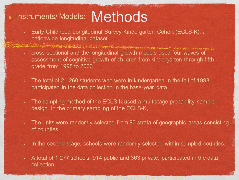 Methods Instruments/ Models: