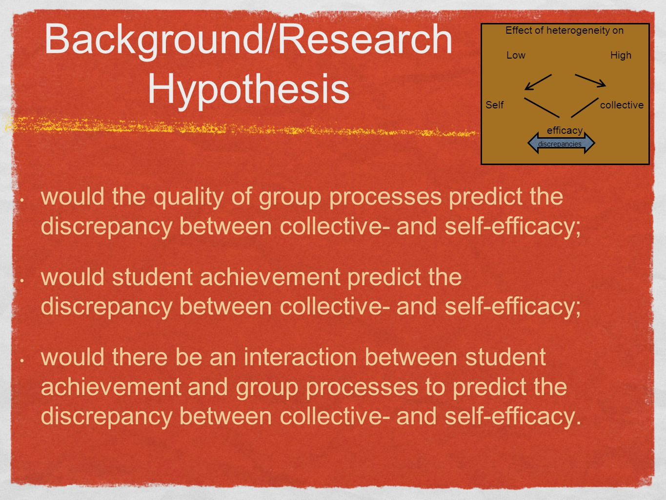 Background/Research Hypothesis