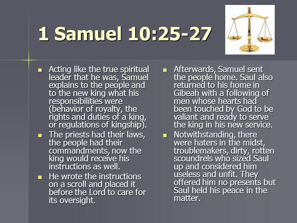 1 Samuel 10:25-27