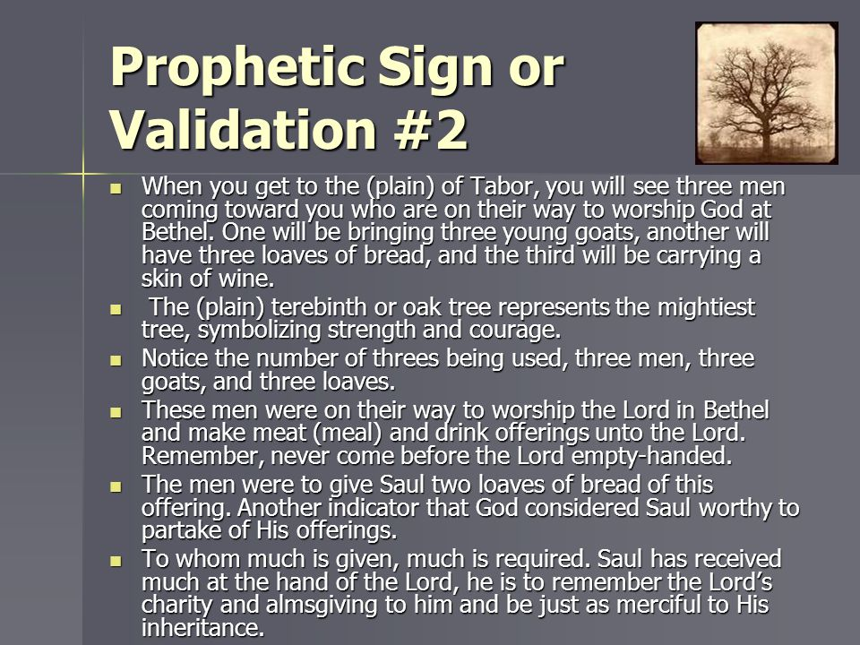 Prophetic Sign or Validation #2
