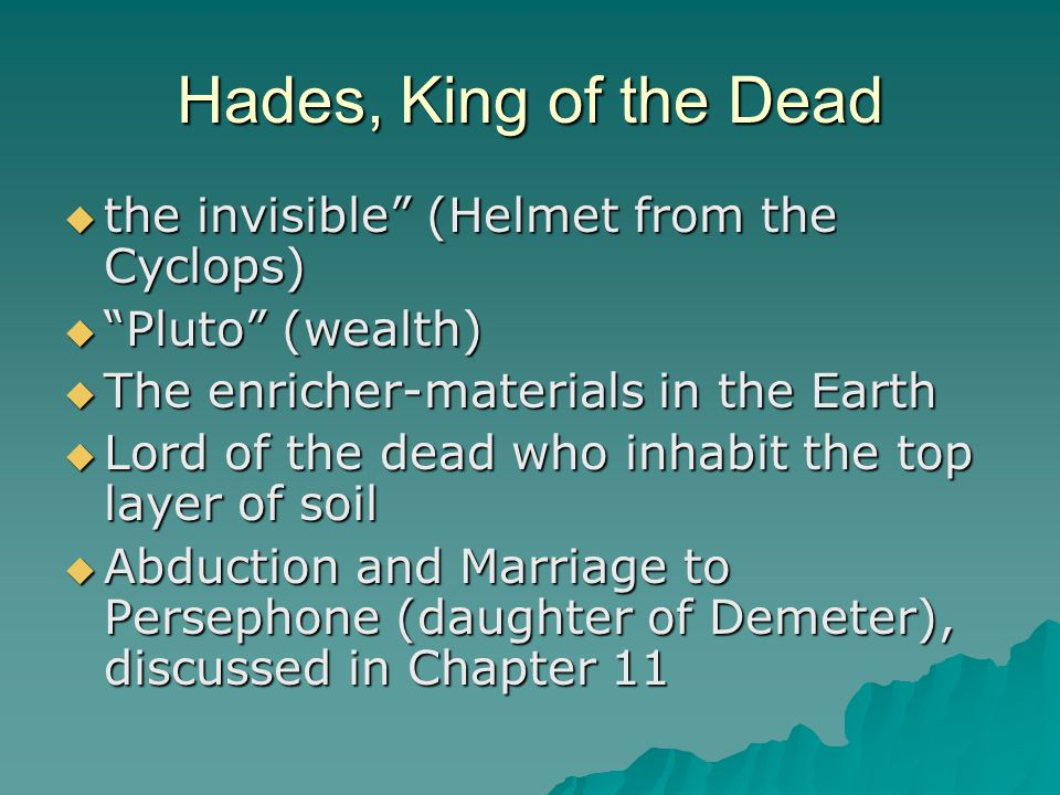 Hades, King of the Dead the invisible (Helmet from the Cyclops)
