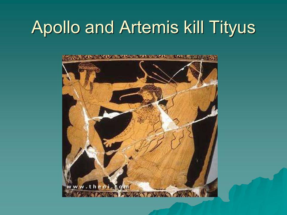 Apollo and Artemis kill Tityus