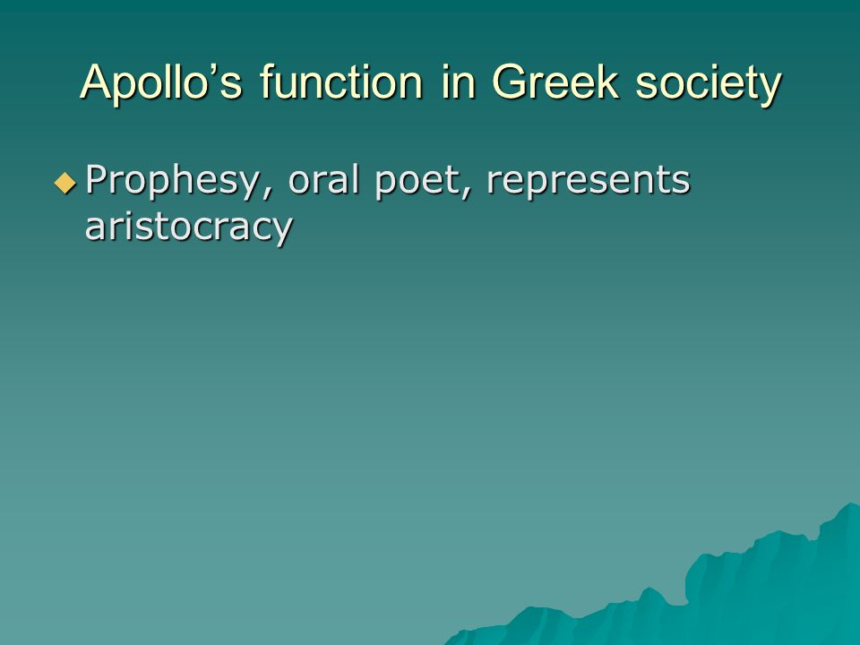 Apollo's function in Greek society