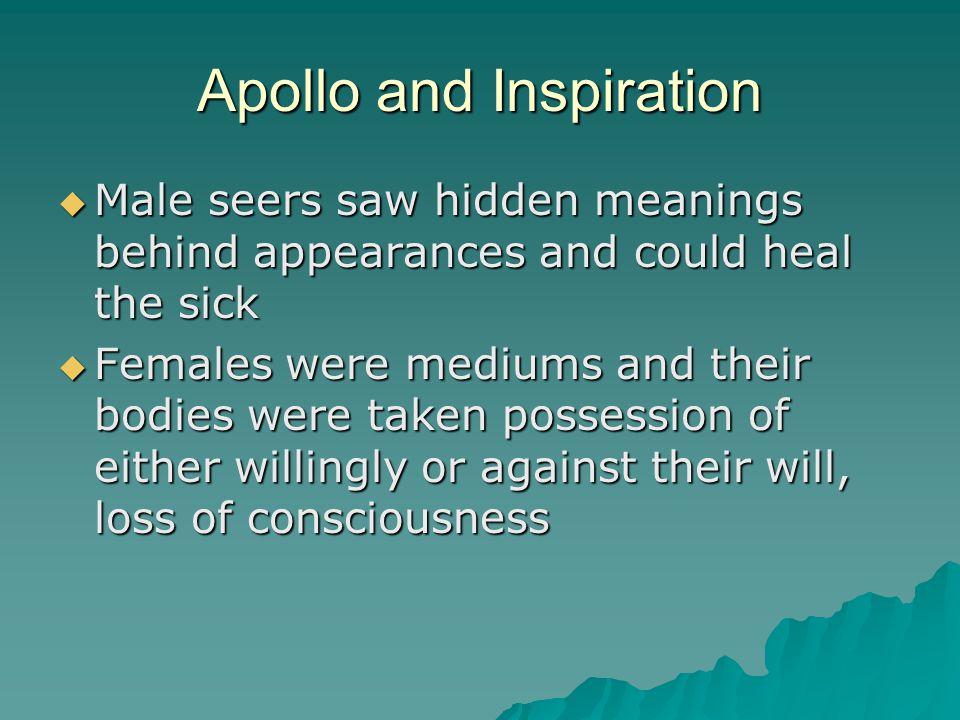Apollo and Inspiration