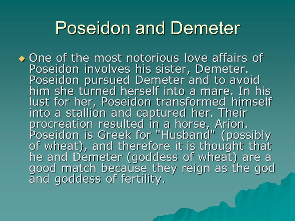 Poseidon and Demeter