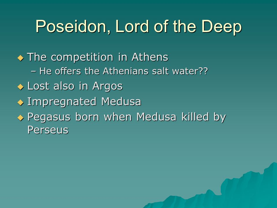 Poseidon, Lord of the Deep