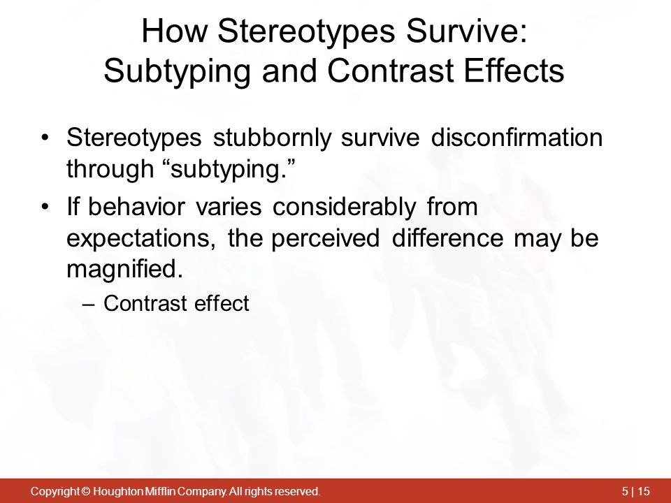 How Stereotypes Survive: Subtyping and Contrast Effects