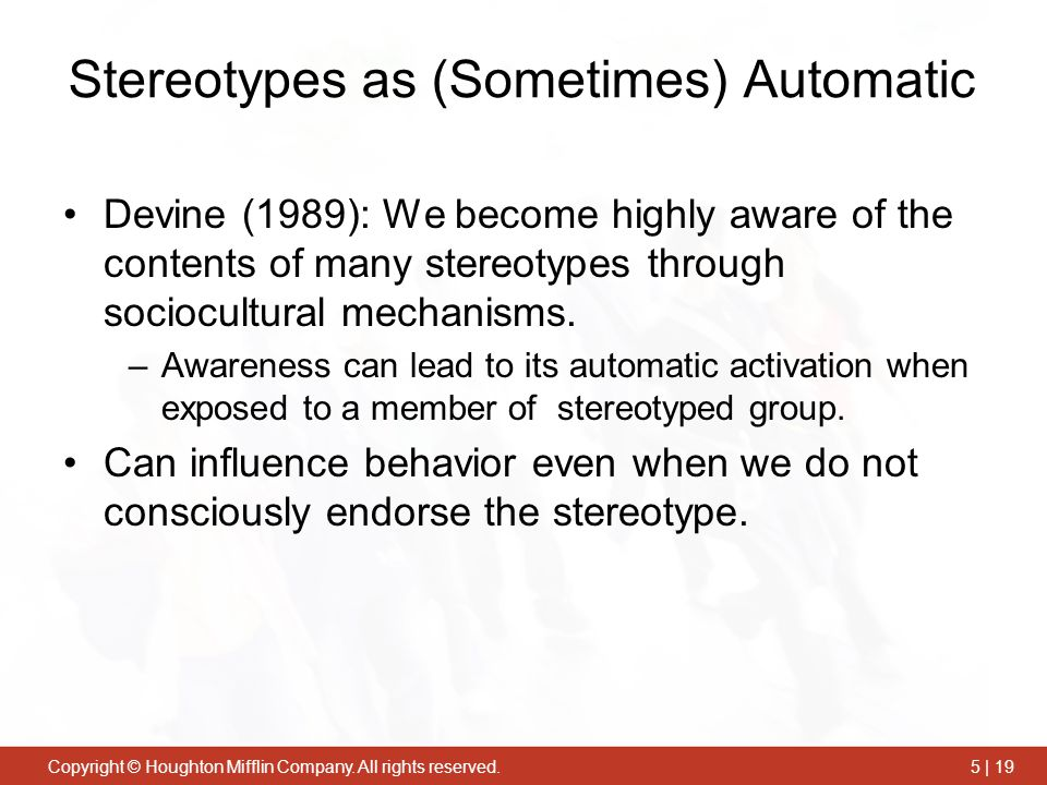 Stereotypes as (Sometimes) Automatic