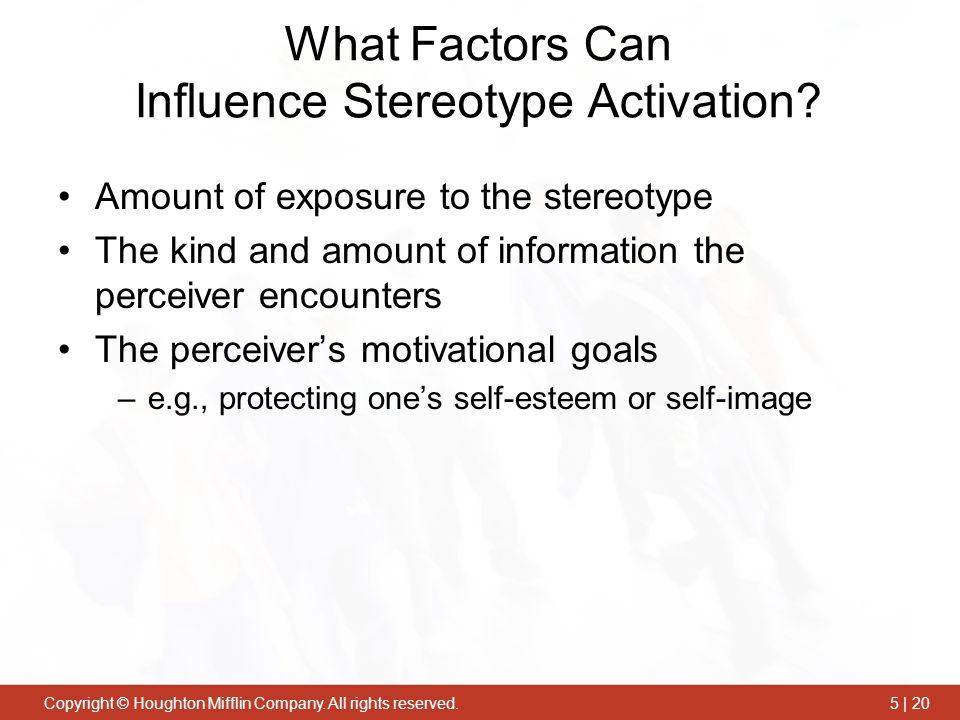 What Factors Can Influence Stereotype Activation