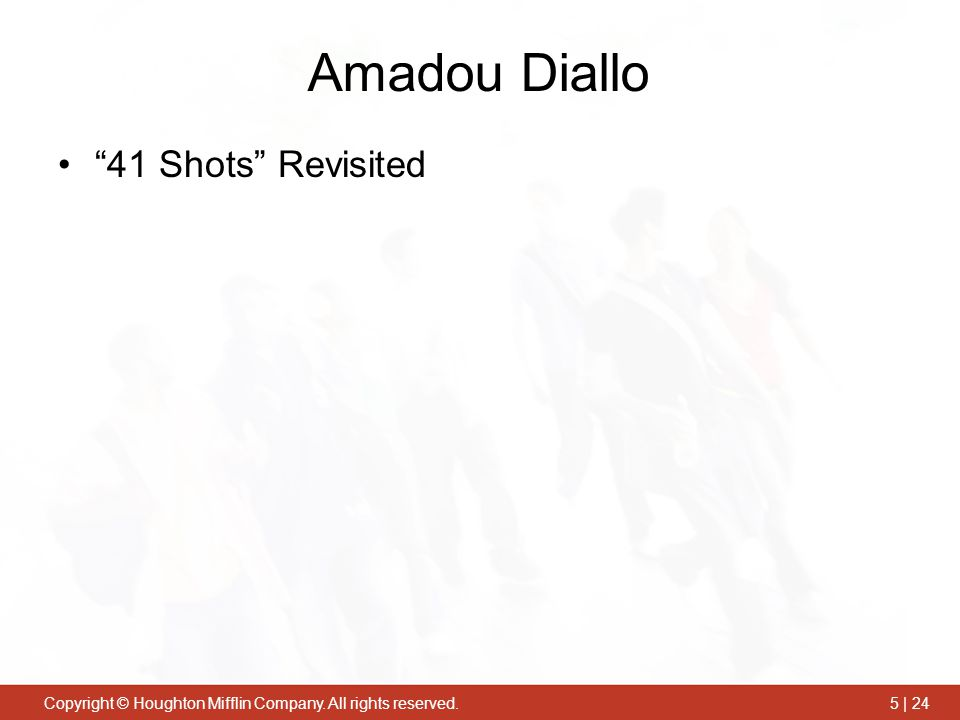 Amadou Diallo 41 Shots Revisited