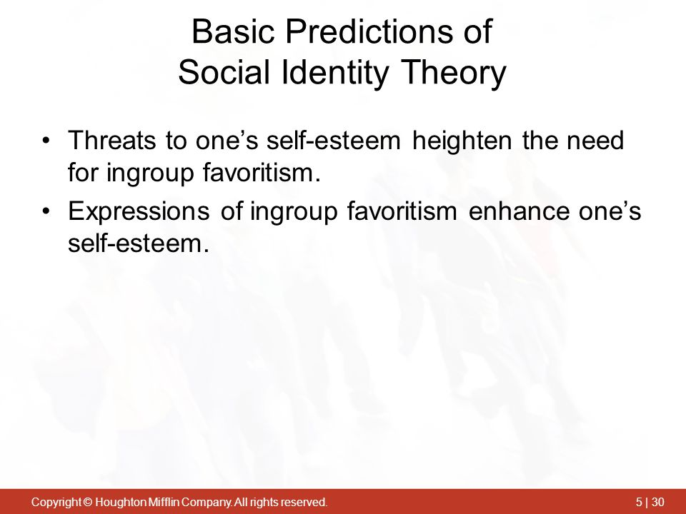 Basic Predictions of Social Identity Theory