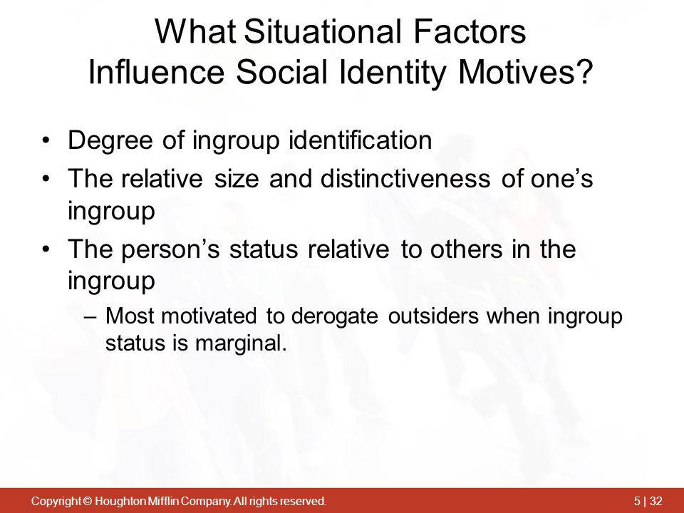 What Situational Factors Influence Social Identity Motives