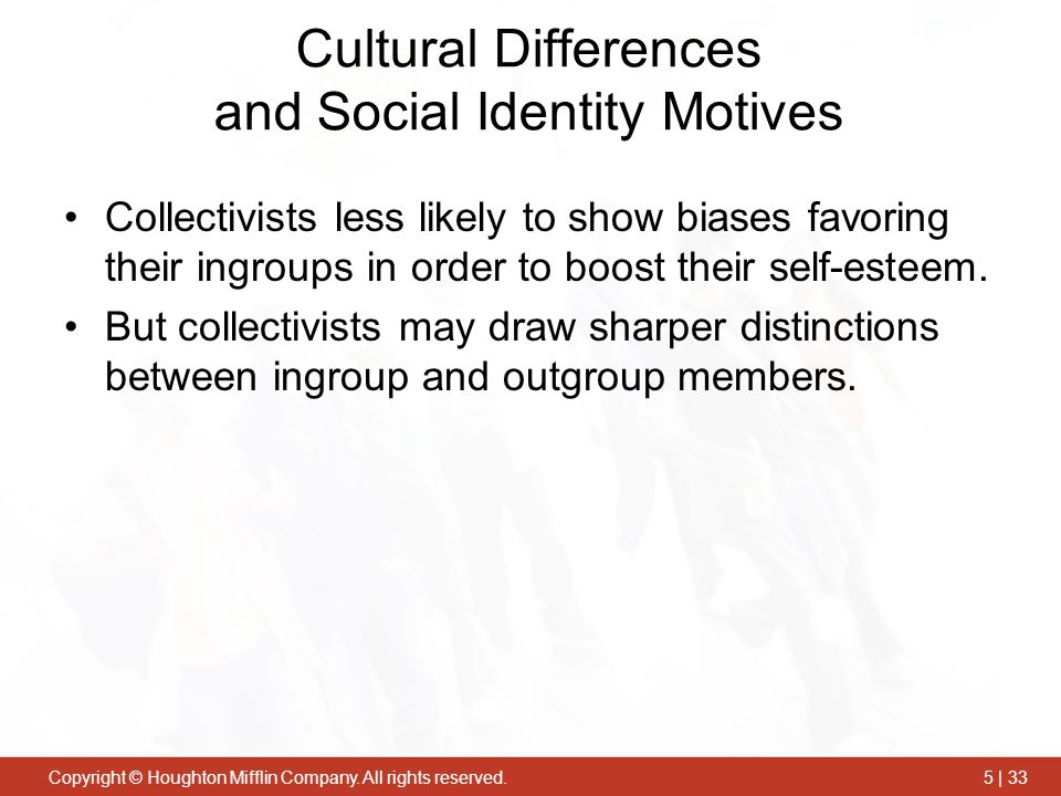 Cultural Differences and Social Identity Motives