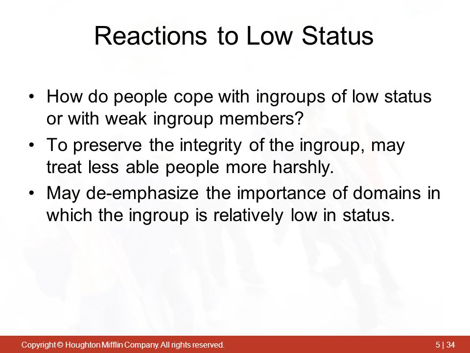 Reactions to Low Status