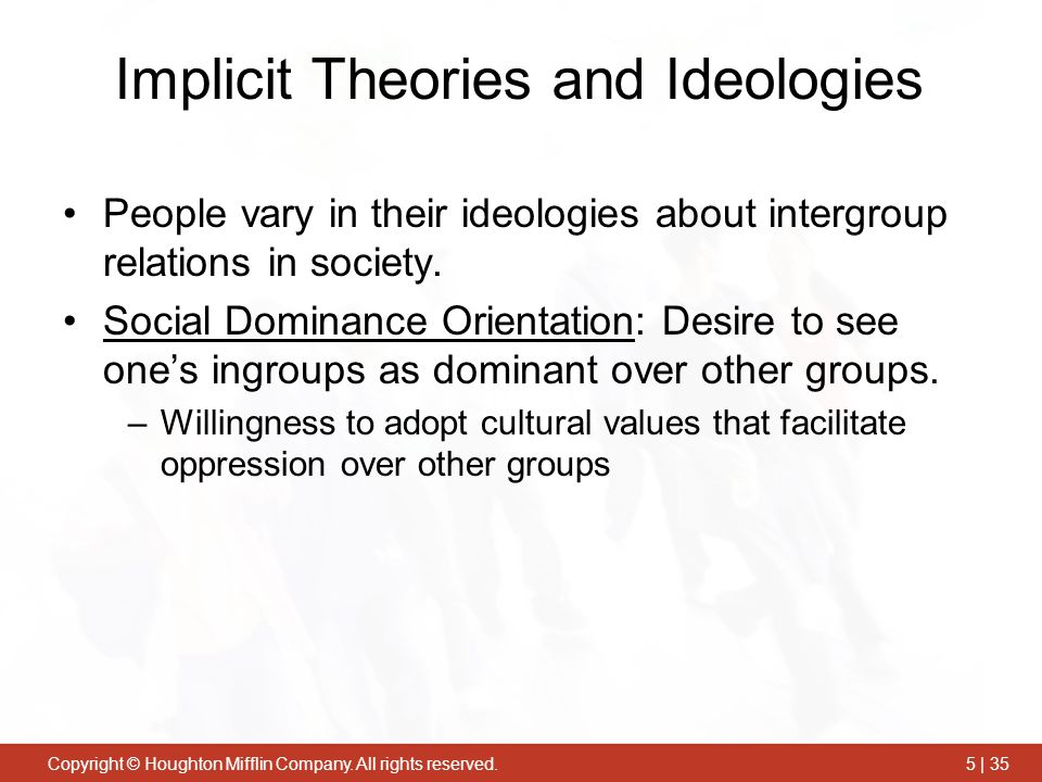 Implicit Theories and Ideologies