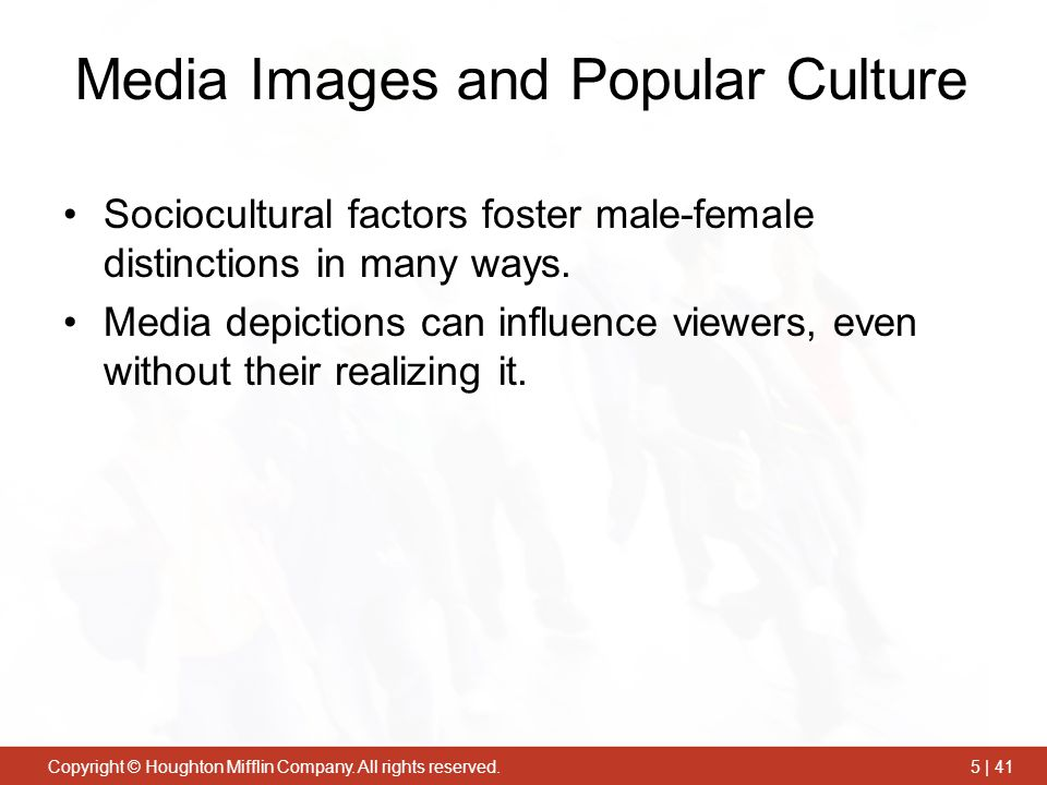 Media Images and Popular Culture
