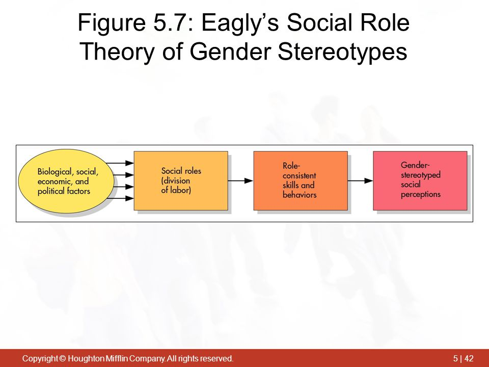 Figure 5.7: Eagly's Social Role Theory of Gender Stereotypes