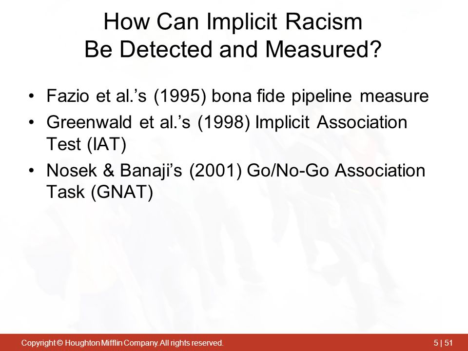 How Can Implicit Racism Be Detected and Measured