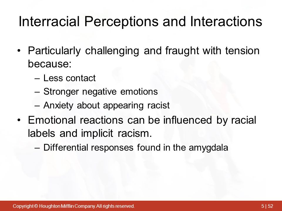 Interracial Perceptions and Interactions