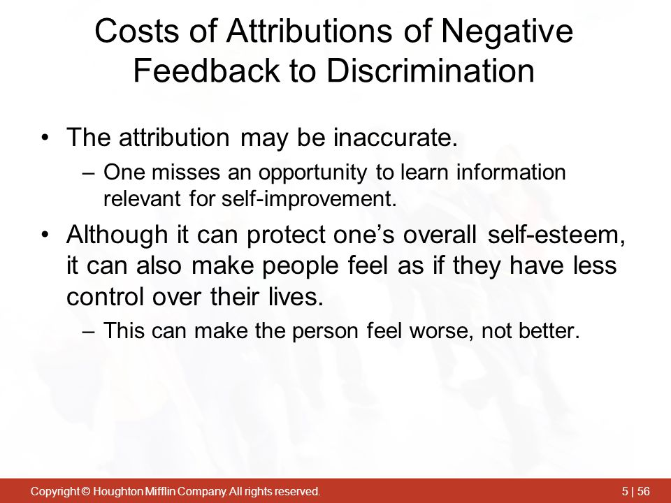 Costs of Attributions of Negative Feedback to Discrimination