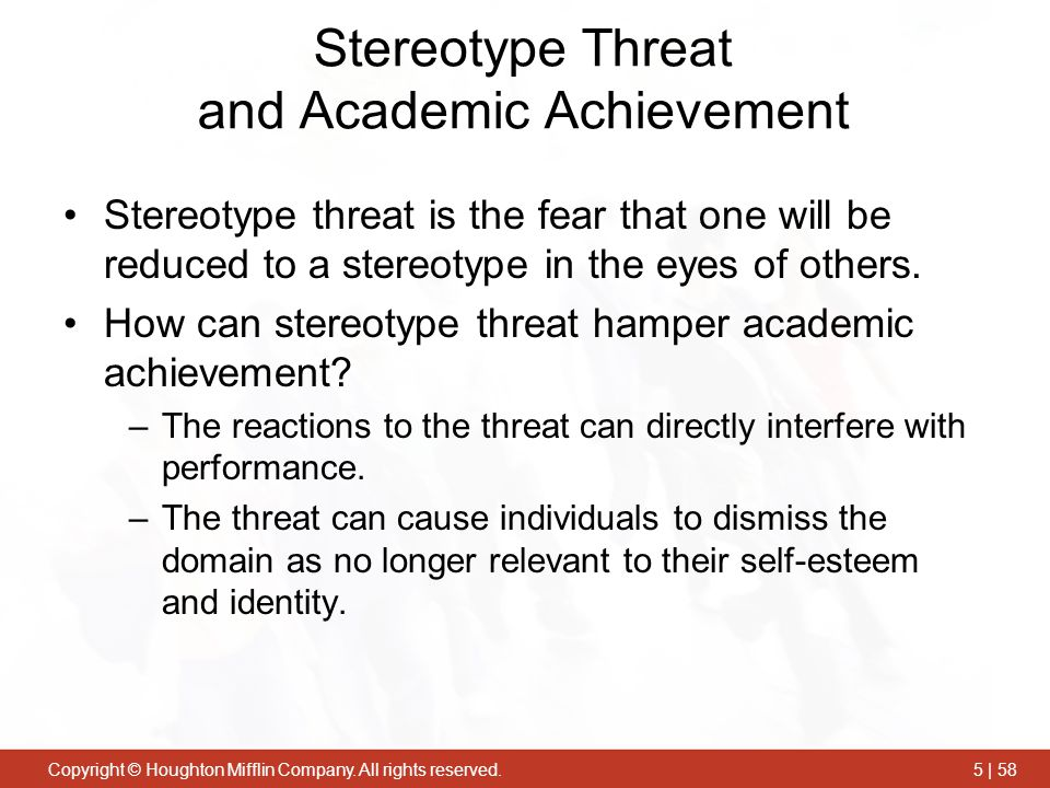 Stereotype Threat and Academic Achievement
