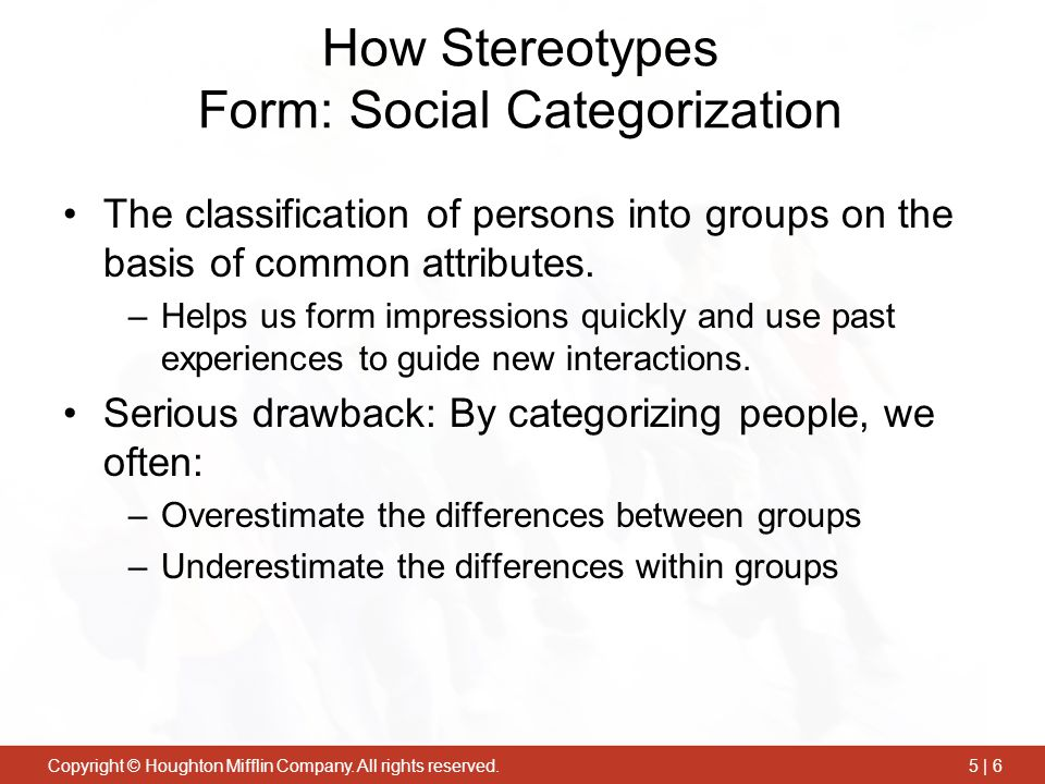 How Stereotypes Form: Social Categorization