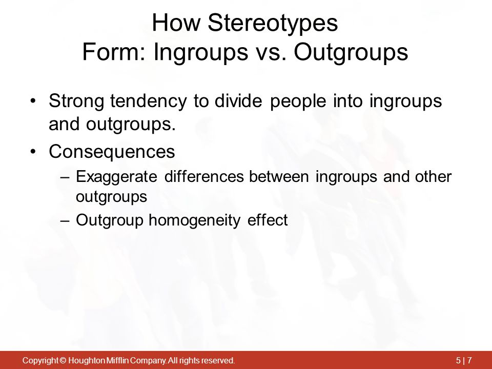How Stereotypes Form: Ingroups vs. Outgroups