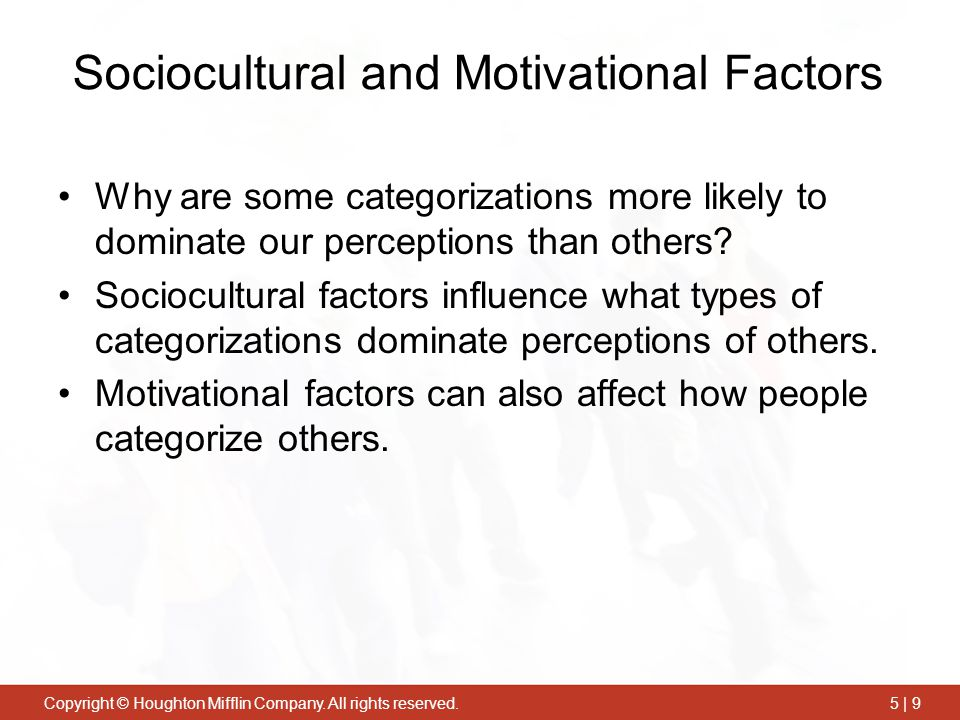 Sociocultural and Motivational Factors
