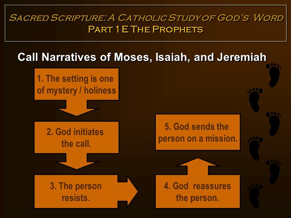 Call Narratives of Moses, Isaiah, and Jeremiah