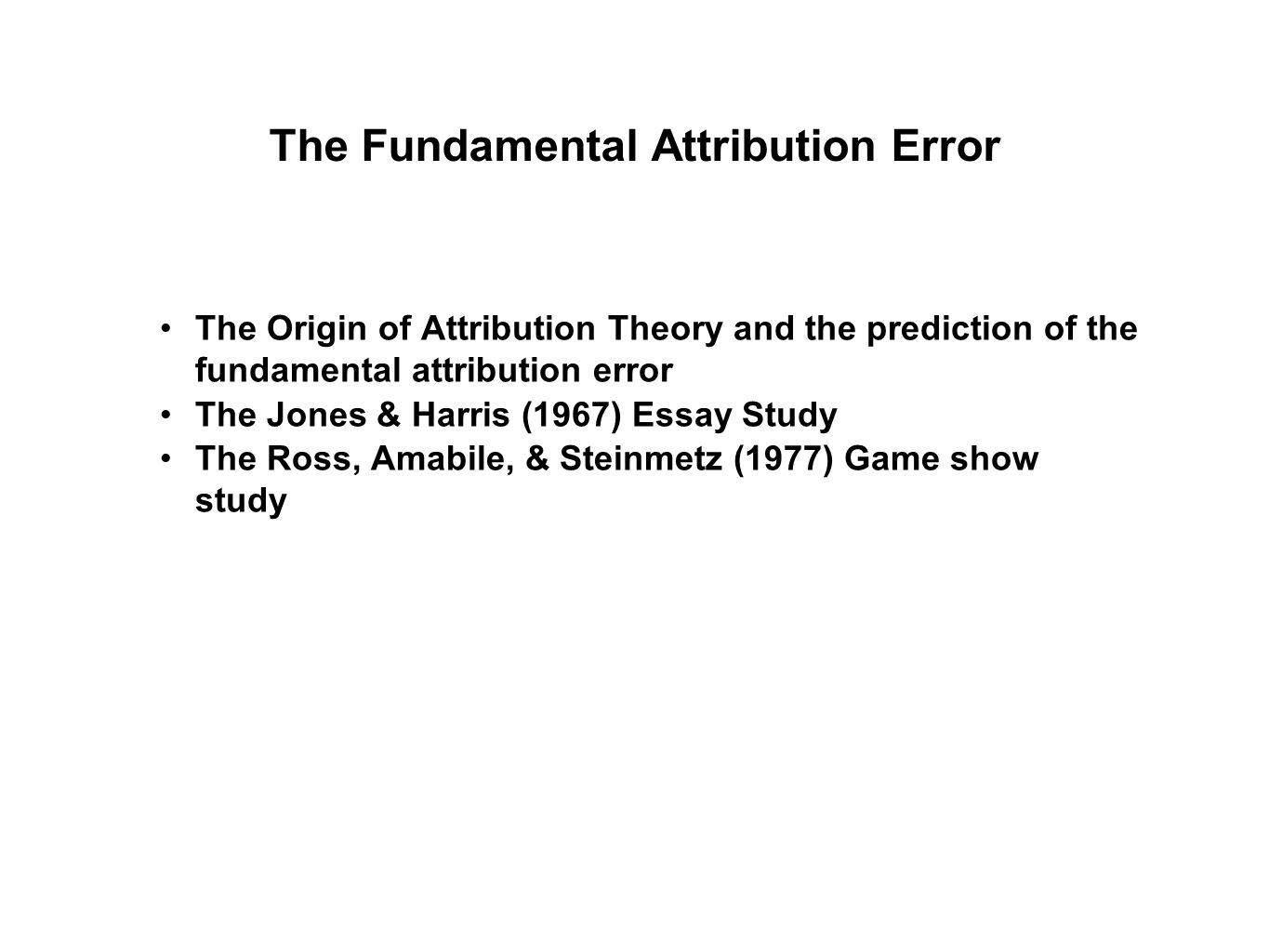 social psychology the power of the situation ppt video online  the fundamental attribution error