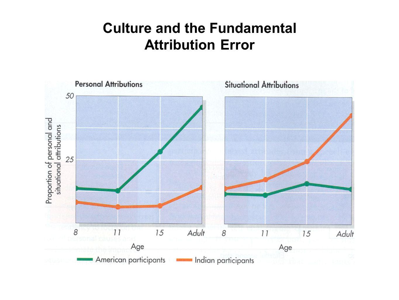 Culture and the Fundamental Attribution Error