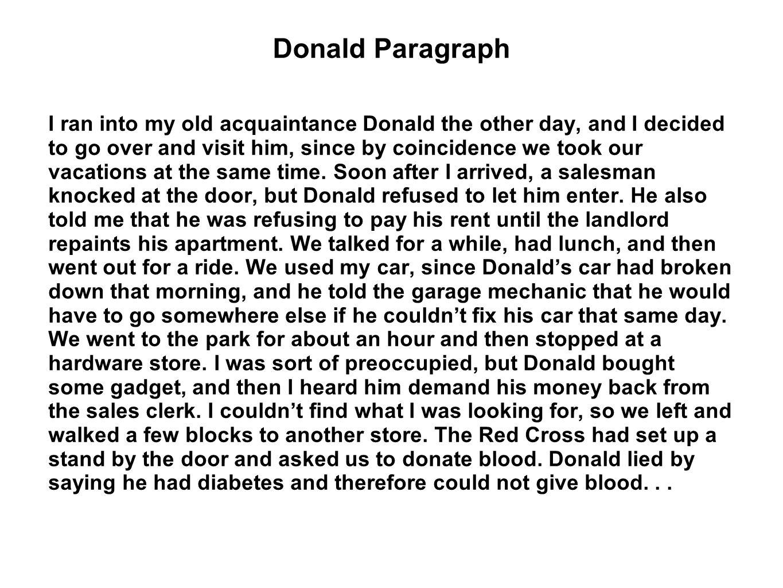 Donald Paragraph