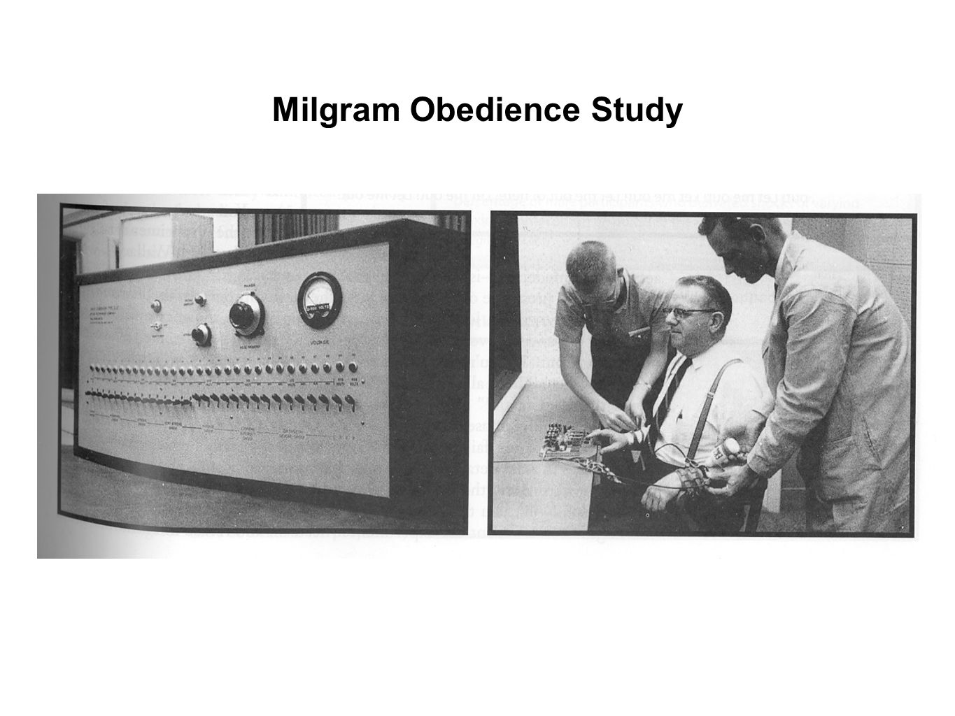 milgram behavioural study of obedience Milgram's (1963) original obedience study is, perhaps, the best known product of   milgram's study was actually one in a series of experiments (milgram, 1963,  1965a,  situational definitions and self-perceptions into behavioral obedience.