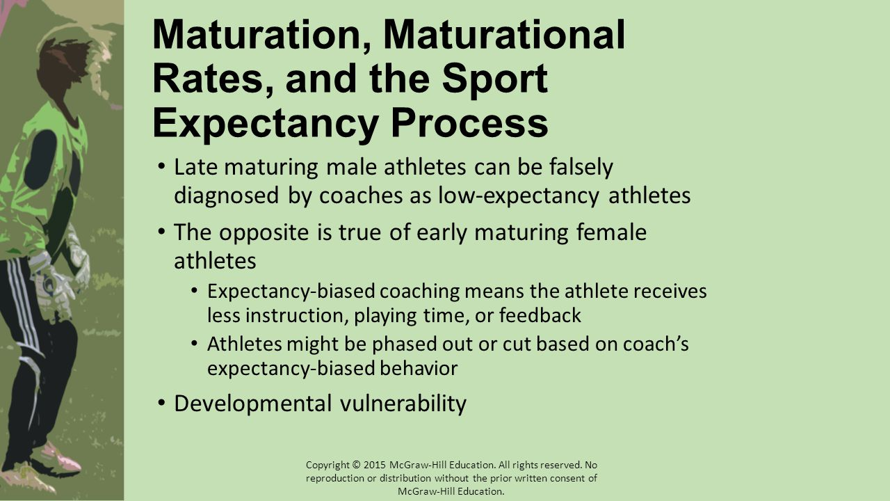 Maturation, Maturational Rates, and the Sport Expectancy Process