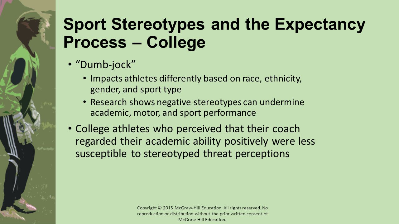 Sport Stereotypes and the Expectancy Process – College