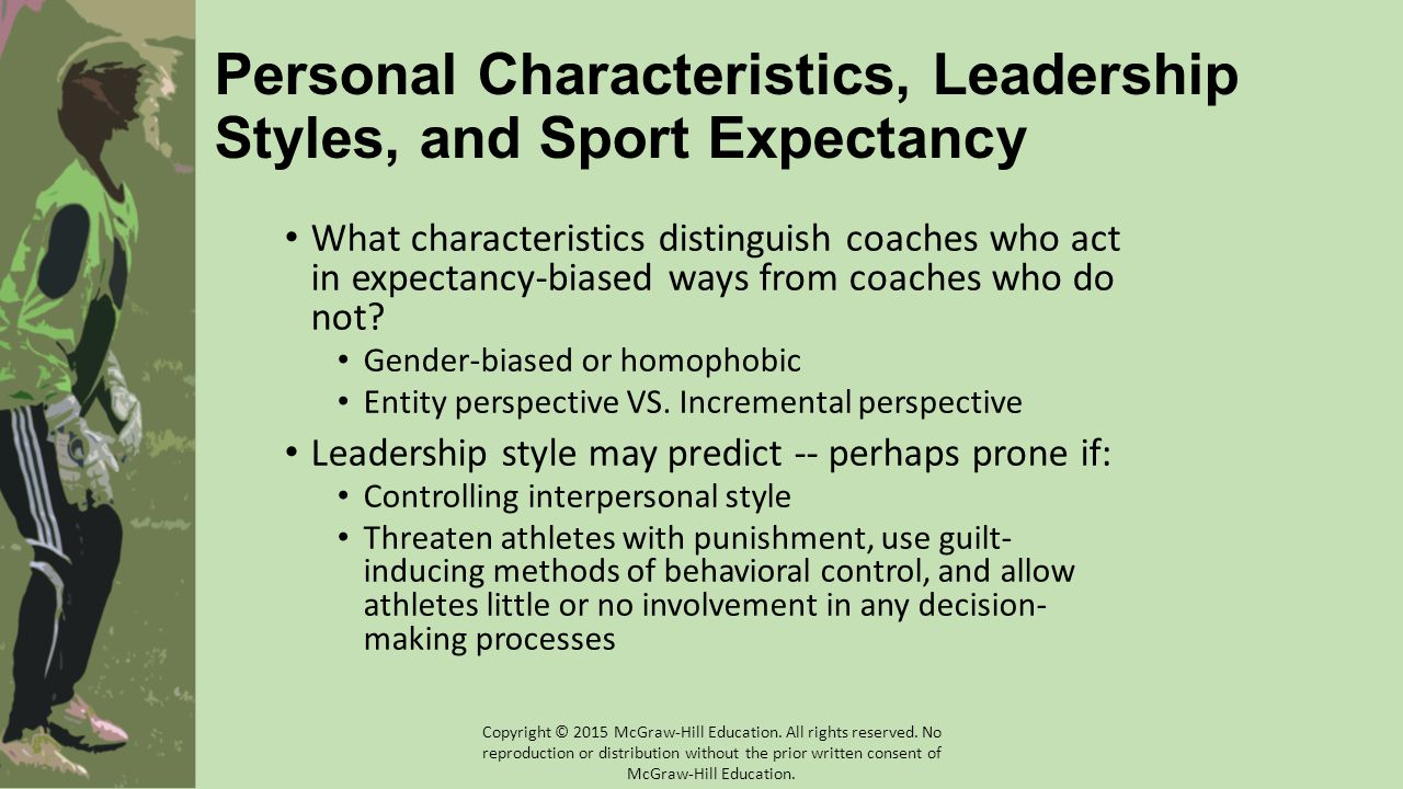 Personal Characteristics, Leadership Styles, and Sport Expectancy