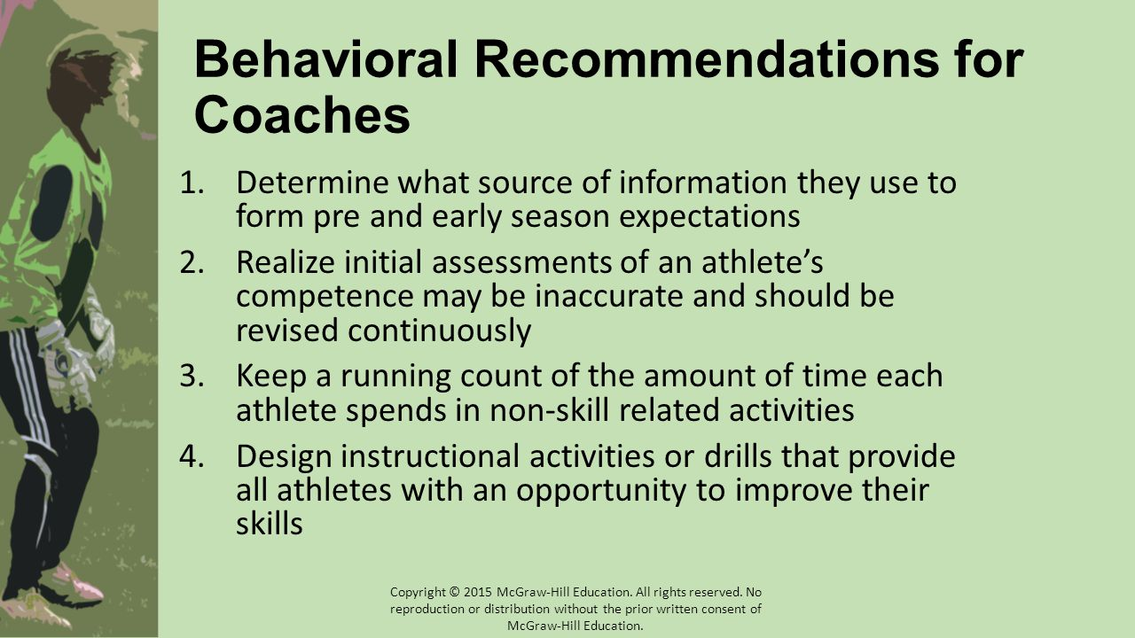 Behavioral Recommendations for Coaches