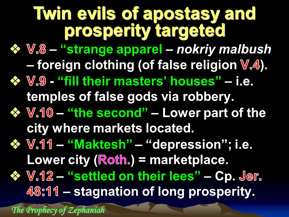 Twin evils of apostasy and prosperity targeted