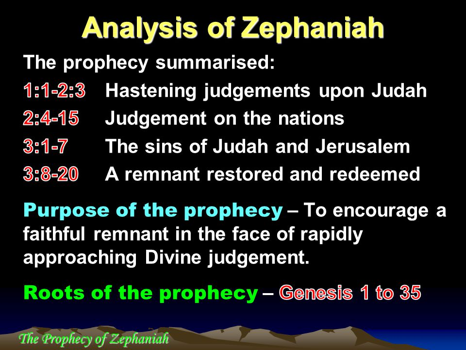 The Prophecy of Zephaniah