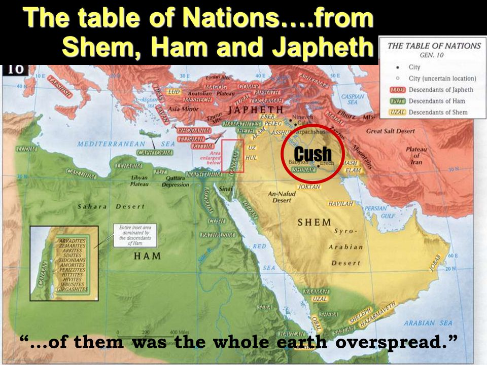 …of them was the whole earth overspread.
