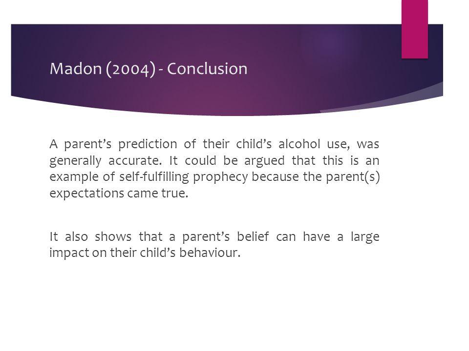 Madon (2004) - Conclusion