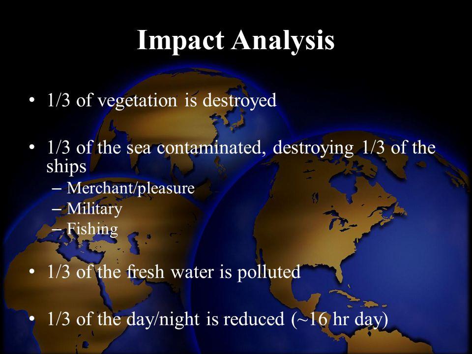 Impact Analysis 1/3 of vegetation is destroyed