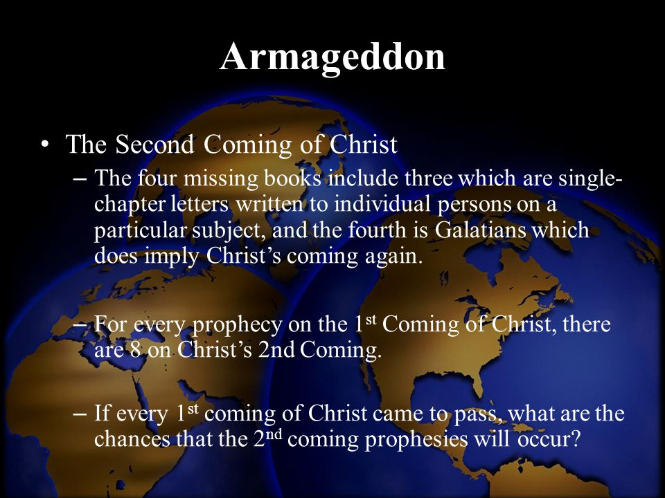 Armageddon The Second Coming of Christ