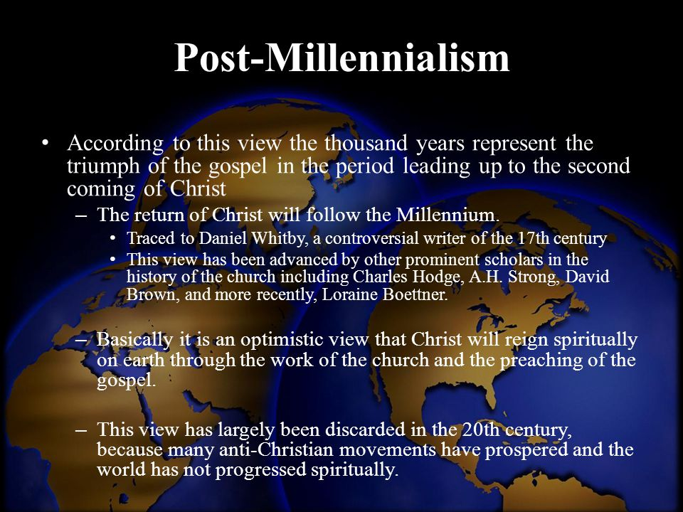 Post-Millennialism