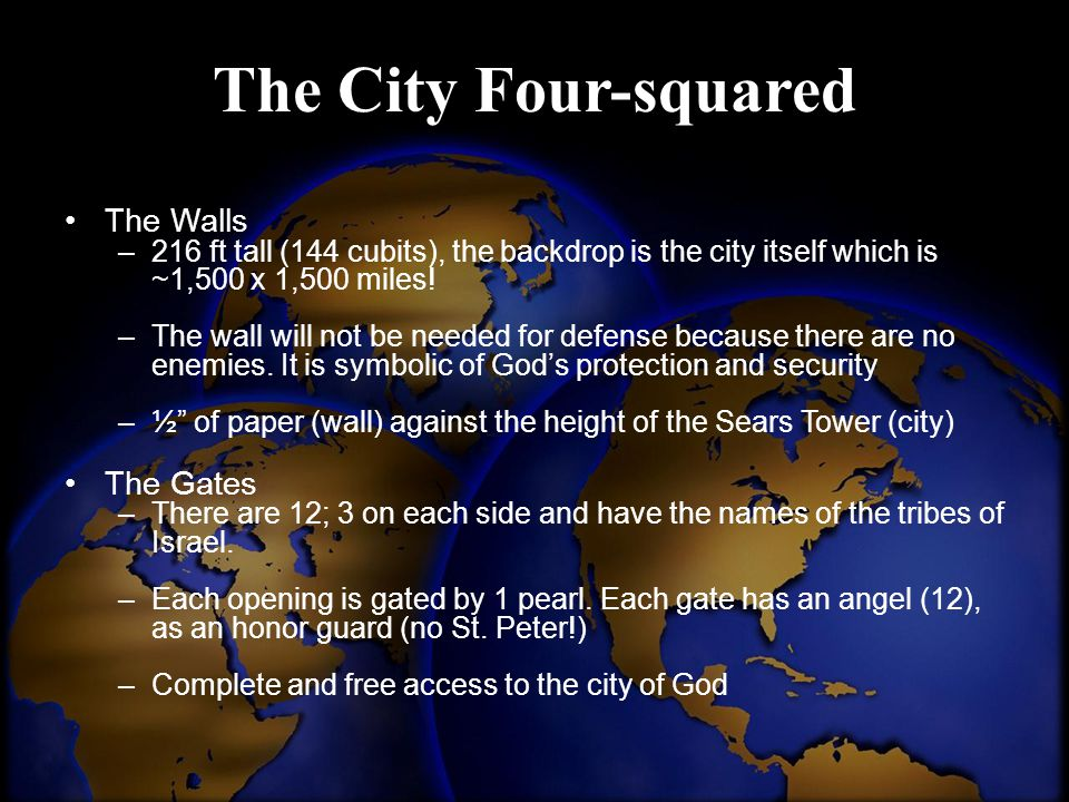 The City Four-squared The Walls The Gates